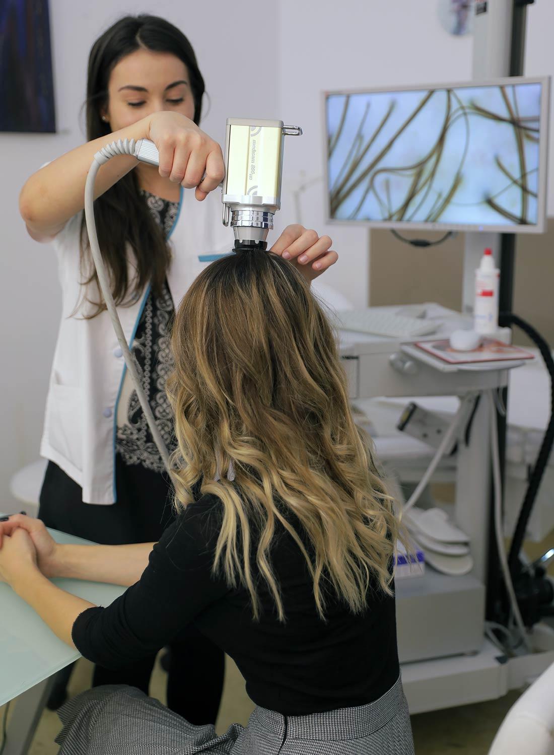 analiza firului de par - fotofinder - skinmed